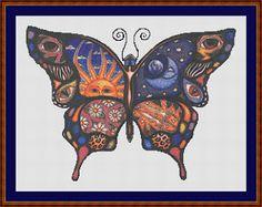 Cross Stitch Works: Celestial Butterfly...free pattern