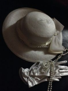 Hats and pearls and whit gloves, of course! by My Chérie Amour
