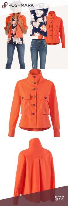 CAbi Resort Jacket 2016 #5098 Tiger Lily Orange M CAbi Resort Jacket 2016 #5098 Tiger Lily Orange Size Medium.  Excellent condition! CAbi Jackets & Coats