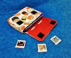 Sushi 3DS / 3DS XL / New 3DS Carrying Case  MADE by oxygenimpulse