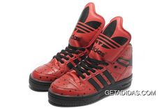 5c979482353db Lifestyle Free Exchanges US Adidas Jeremy Scott Running Shoes Metro  Attitude Hi Red Black Shoes TopDeals