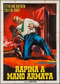 "Movie Posters:Film Noir, The Killing (Gold Film, R-1964). Italian 4 - Foglio (55"" X 78"").Film Noir.."