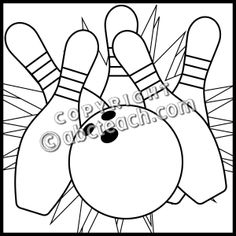 bowling pin coloring pages - photo#40