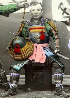 #Japan. Samurai, from Adolfo Farsari photo. #Samurai