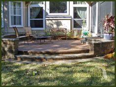 Backyard Patio Pavers | ... - click to enlarge - jacksonville pavers terraced patio steps.jpg