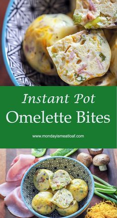 Instant Pot Omelette Bites are a delicious and healthy meal prep option for a great grab and go breakfast meal during the work week! Filled with cheese ham and veggies! Whip up one batch or several for meal prep breakfast brunch or an office potluck! Instant Pot Pressure Cooker, Pressure Cooker Recipes, Pressure Cooking, Instant Pot Sous Vide, Healthy Breakfast Meal Prep, Grab And Go Breakfast, Breakfast Potluck, Healthy Brunch, Healthy Breakfasts