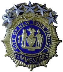 US State of New York, City of New York Police Department Commissioner Badge Law Enforcement Badges, Law Enforcement Officer, Sheriff Badge, Police Badges, Special Forces Logo, Us Military Medals, Blue Bloods Tv Show, Security Badge, Cowboy Ranch