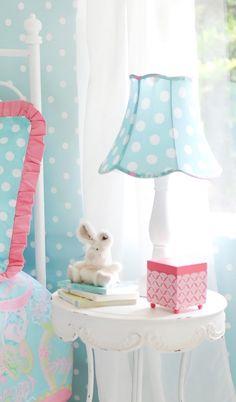 Pixie Baby in Aqua Lamp