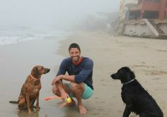 James Scott (EJ DiMera on #Days of Our Lives) with Dogs Eva and Soba in a feature on Glamour.com