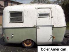 boler American. Small Fiberglass trailer model, Canadian boler replica.