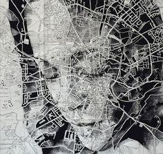 Map Portrait #6 by Ed Fairburn. / #Art ##Illustration