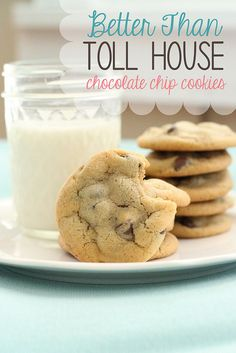 Daisy Cottage Designs: Better Than Toll House Chocolate Chip Cookie Recipe. My go to chocolate chip cookie recipe from now on Chip Cookie Recipe, Cookie Recipes, Dessert Recipes, Dessert Ideas, Just Desserts, Delicious Desserts, Yummy Food, Tasty, Brownies