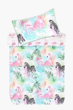 Polycotton Tropical Duvet Cover Set - Duvet Covers & Bale Sets - K