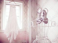 the wedding dress from Lindsey & Andrew's Merriweather Manor wedding in Leesburg, VA