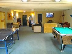 It Would Be So Fun To Have A Game Room Basement Basement - Garage games room ideas