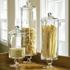 bocaux le parfait en verre pour la pasta dans la cuisine