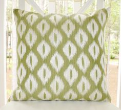 Decorative Designer Green Pillow  Sage Green Ikat by MotifPillows, $38.00
