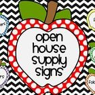 FREE Chevron Supply Signs to organize all those pesky supplies that come in like a storm!