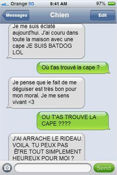 Si votre chien pouvait écrire des textos, il vous enverrait sûrement des messages comme ceux-là... C'est excellent !