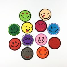 emoji patch Smile patch Emoticons patch funny patch child like iron on patch sew on patch iron on patches4.54.5cm  (A171