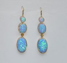 Triple Blue Opal Drops. These would match  the other jewelry I just got ;)