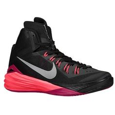 Nike Mens Hyperdunk 2014 Basketball Shoes 115 BlackHyper PunchFuchsia ForceMetallic Silver *** Check out this great product.(This is an Amazon affiliate link and I receive a commission for the sales)
