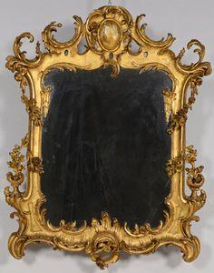 Gilt Rococo Mirror, Continental : Lot 274