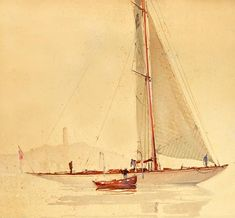 Nautical Painting, Nautical Art, Wooden Canoe, Wooden Boats, Sailing Regatta, Boat Stuff, Yacht Boat, Drawing Artist, Ship Art