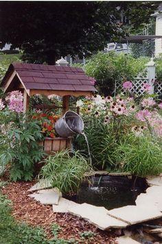 wishing well water fountain - Google Search