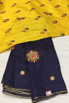 Lenin Georgette Silk Saree with Designer blouse | Elegant Fashion Wear