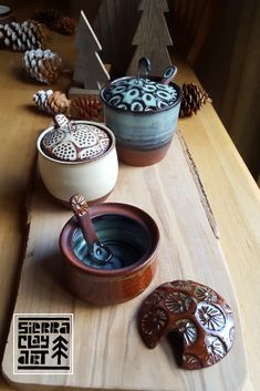 Rustic Salt Cellars with High Temp Wire and Stamp Texture