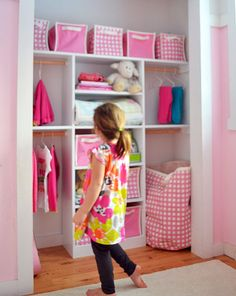 Ana White | Build a Just My Size Closet | Free and Easy DIY Project and Furniture Plans  For the girls room, will make it easier for them to put their clothes away.