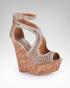 The bebe Caitlyn Studded Wedge Sandal is back!