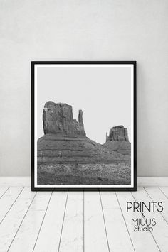 Photography Printable Art Desert Black and by PrintsMiuusStudio