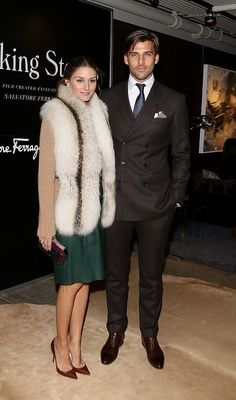 Olivia Palermo brown x fur x green