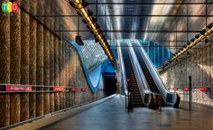Munich, the capital of Bavaria and Germany's third largest city with million inhabitants got its U-Bahn subway system (Untergrundbahn meaning subway in German) only in 1972 in the occasion of hosting the Olympic games, Metro Subway, U Bahn, Metro Station, Bavaria, Public Transport, Vivid Colors, Most Beautiful, Train Stations, Munich Germany