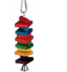 Rainbow Stack 1.5-Inch x 6-Inch Small Pet Toy Bird Pet Supplies Indoor Outdoor  #rainbowstack