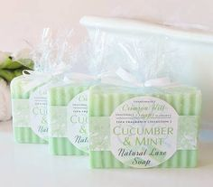 Crimson Hill Soaps & Scents Cucumber & Mint Soap Labels - Customer Creations: Get Inspired By Unique Designs - OnlineLabels.com