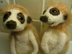 Crochet Meerkats- would love to make one for my mum.