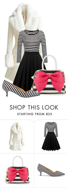 """Untitled #22488"" by nanette-253 ❤ liked on Polyvore featuring WithChic, Betsey Johnson and Sole Society"