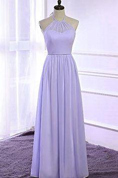 Lavender chiffon open back long strapless prom dress, bridesmaid dress #prom #dress #promdress #bridesmaids