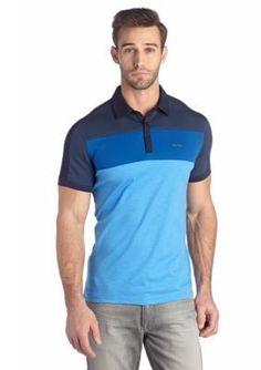 beb14fc25c0 Calvin Klein Short Sleeve Colorblock Polo Shirt