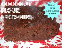 Coconut Flour Brownies: Grain-Free, Gluten Free, GAPS Legal, Paleo, Dairy Free!