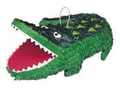 Alligator Party Pinata, 18 x 13 in, Green, Size: x Safari Party, Zoo Animal Party, Jungle Theme Parties, Party Animals, Party Themes, Party Ideas, Jungle Party Decorations, Alligator Party, Alligator Birthday Parties