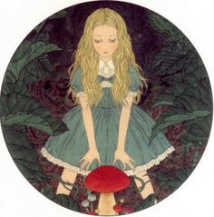 Alice in Wonderland - Takato Yamamoto Art And Illustration, Illustrations, Japanese Illustration, Art Kawaii, Ero Guro, Alice Liddell, Chesire Cat, Art Japonais, Were All Mad Here