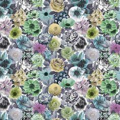 Oriana II - Emerald Fabric  | Designers Guild