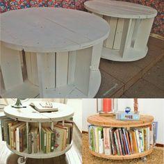 Mesa carretel Livros