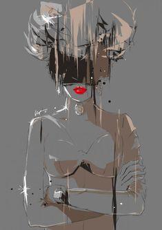 Fashion Illustration | By: Chun Fui Ng, via Cuded