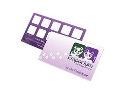 Cartão de fidelidade para pet shop