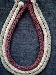 Little Treasures: Crochet tube necklaces